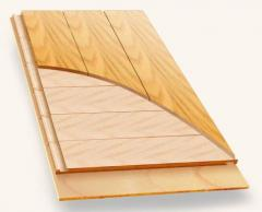 Three-layer parquet board
