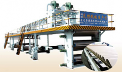 Lines of production of corrugated fibreboard, equipment for production of a corrugated cardboard