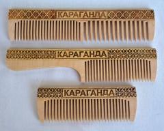 Hairbrush birch in birch bark different BOROVOYE