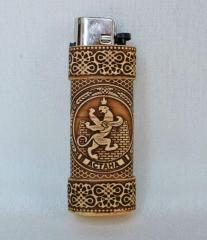 Birch bark case for lighter Astana