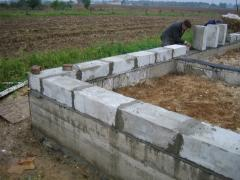 Foam concrete blocks for the base in Almaty