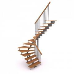 Modular ladder with turn on 180