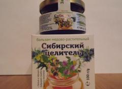 Сибирский целитель, бальзам медово-растительный с