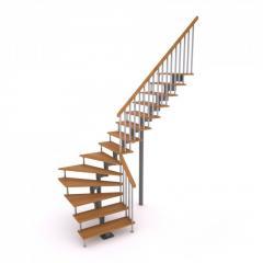 Production of ladders with zabezhny steps (90