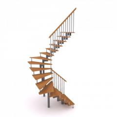 Production of ladders with zabezhny steps (turn by
