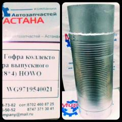 Corrugation of the muffler (8*4) HOWO