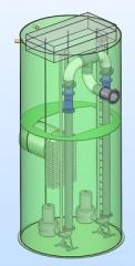 The Sewer Pump Stations (SPS) from polypropylene