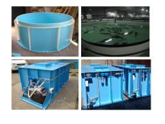 Pools for cultivation of live fish, capacity for