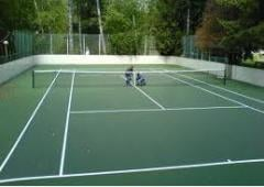 Coverings rubber for tennis courts