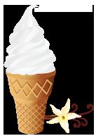 Dry ice cream