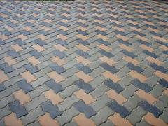 Плитка тротуарная цементно-песчаная, вид Волна