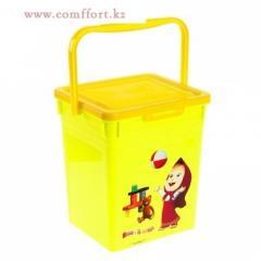 Ящик для игрушек Маша и Медведь с крышкой и
