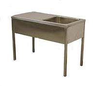 Ванна моечная со столом (сварная)