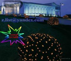 Garlands are LED, New Year's, street grids, a