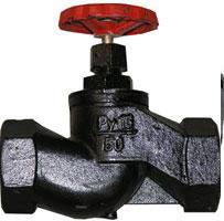 Клапан запорный муфтовый чугунный J11F-16 (Ру-16)
