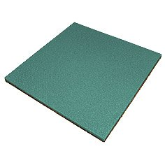 Safety rubber tile of 500х500х30 mm