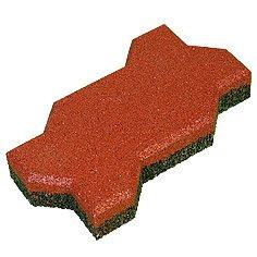 "Safety rubber tile ""Wave"" of 40"