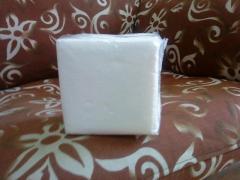 Салфетки бумажные 24х24 100% целлюлоза