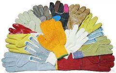 Перчатки х/б, про резиновые