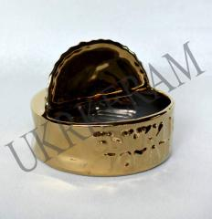 Ashtray bull-calves in tomato gold No. 2301