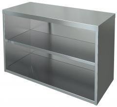 Half-open wall shelf