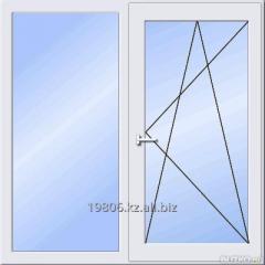 Двухстворчатое металлопластиковое окно