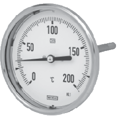 Thermometer bimetallic WIKA A5402/S, NG100, 0...