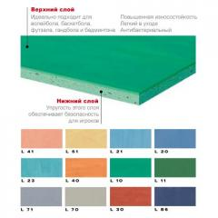 PVC covering of Mondosport E 4,5 of mm