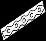 Лента монтажная перфорированная оцинкованная волна