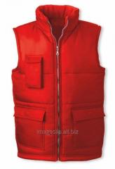 Vest the warmed man's
