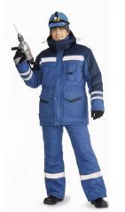 Костюм мужской Зимник зимний васильковый с т-синим Ursus, КОС631-031