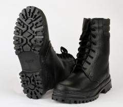 Ботинки с высоким берцем ARMY хром на искусственном меху Ursus, БОТ700