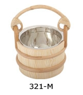 Wooden tub with the steel insert 2 liters ​
