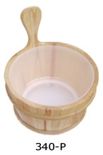 Wooden tub with the plastic insert 4 liters