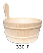 Wooden tub with the plastic insert 3 liters ​