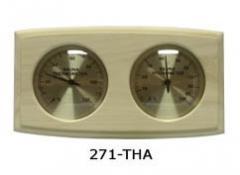 Термо-гигрометр изогнутый прямоугольник 0003