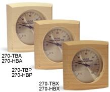 Термо-гигрометр изогнутый квадрат 0016