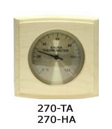 Thermo-hygrometer curved square 0024