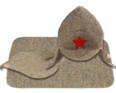 Комплект Буденовка Серый