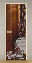 Дверь GLASSHOUSE Eсonomy Line Sauna 1
