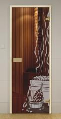 Дверь GLASSHOUSE Eсonomy Line Sauna 2