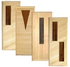 Doors wooden of a linden with glass inserts