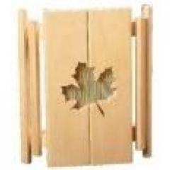 Абажур АКБ-01 угловой с бамбуковой вставкой (листик клен)