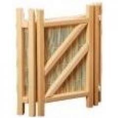 Абажур АКБ-02 угловой с бамбуковой вставкой