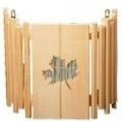 The AKB-11 lamp shade with a bamboo insert wall (a leaf a maple)