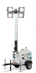 Mast of illumination of Towerlight Atlas Copco QLT
