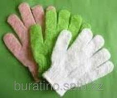 Bast for shower glove.