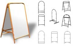 Rack for advertizing panels