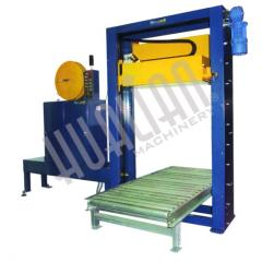 Automatic machine for the binding pallet tape