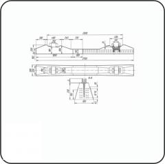 Ferroconcrete tie ARS type